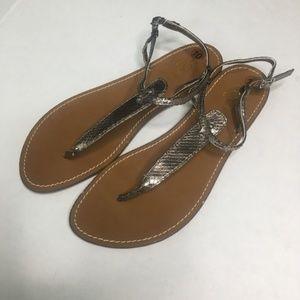 Loft Silver Metallic Sandals (L)